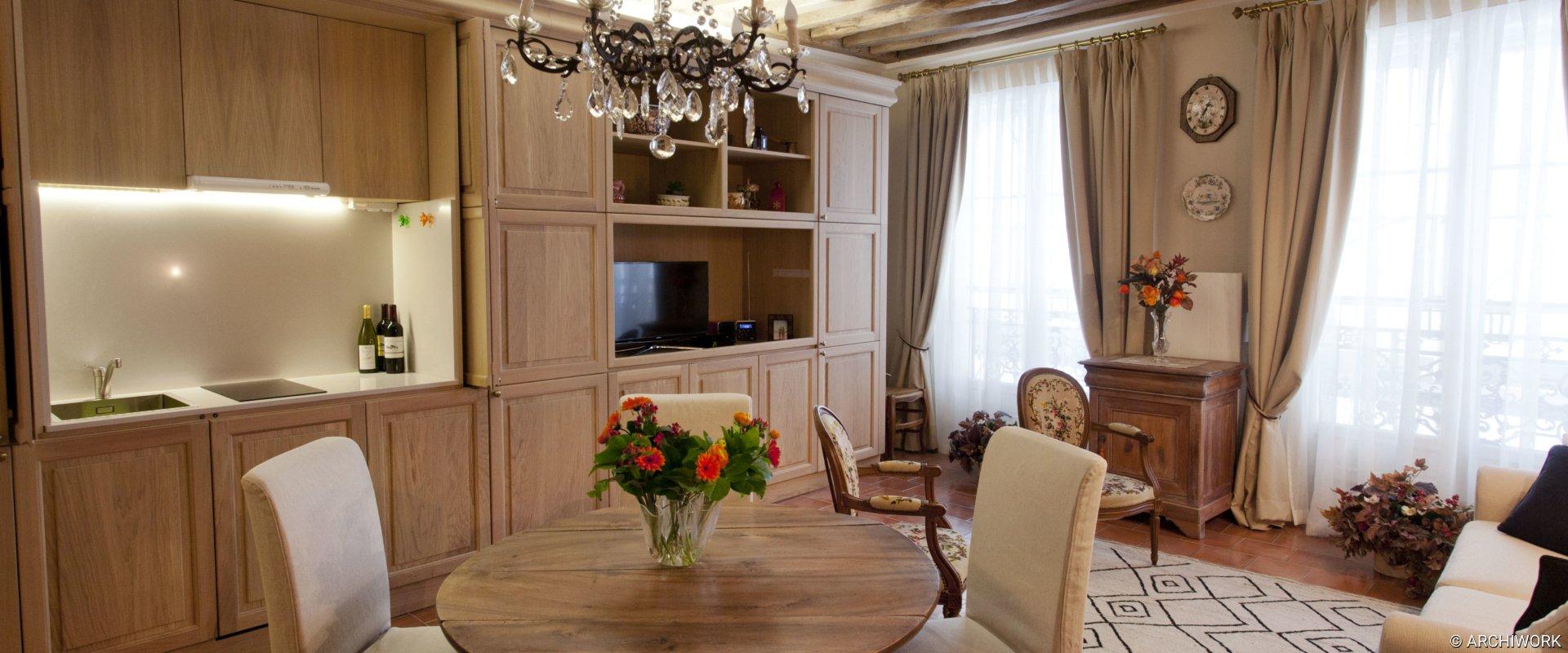 ARCHIWORK Appartement Rue Grenier Saint Lazare. Vittoria Rizzoli architecte.
