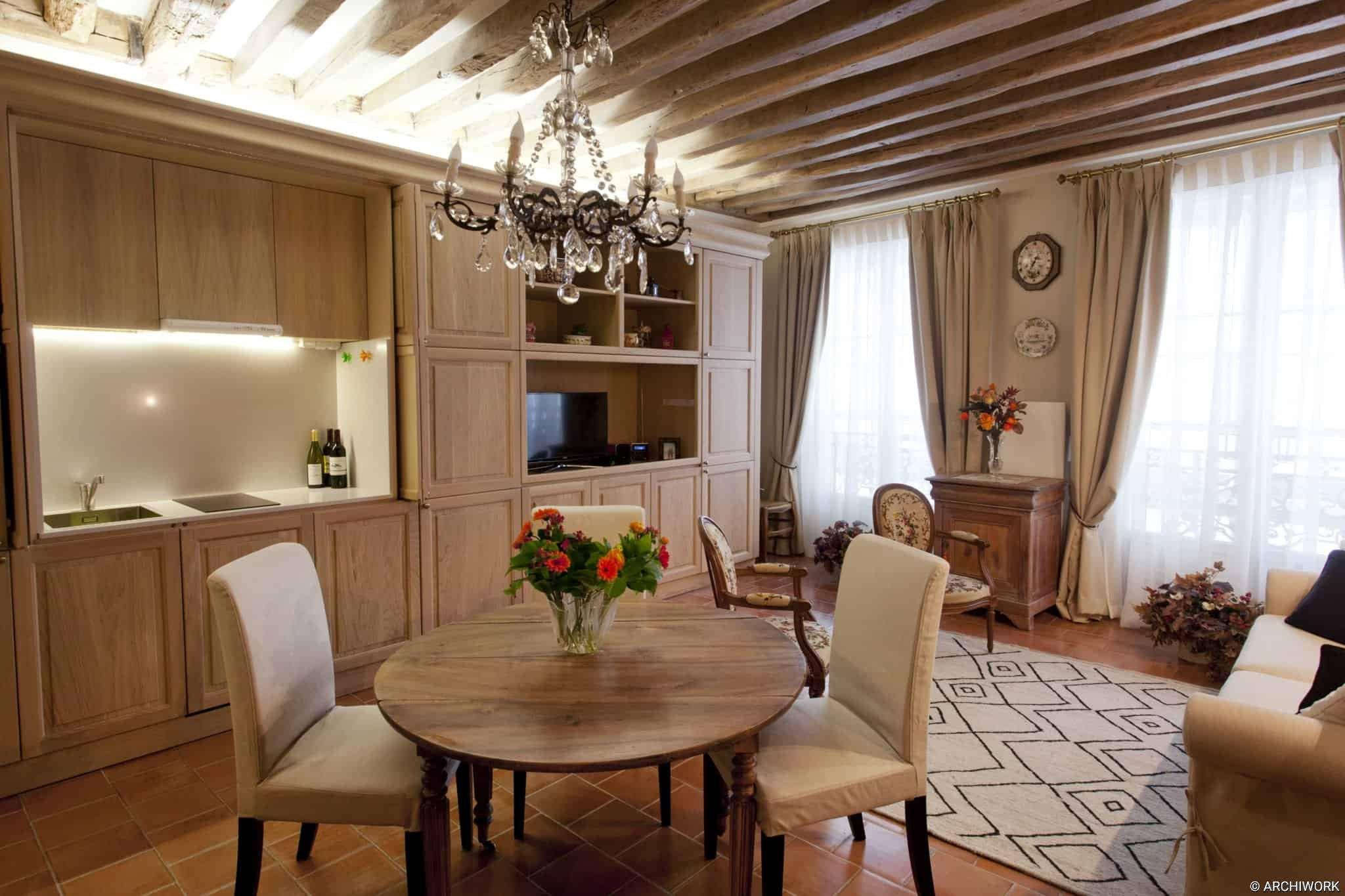 ARCGHIWORK Appartement Rue Grenier Saint Lazare.Vittoria Rizzoli architecte.