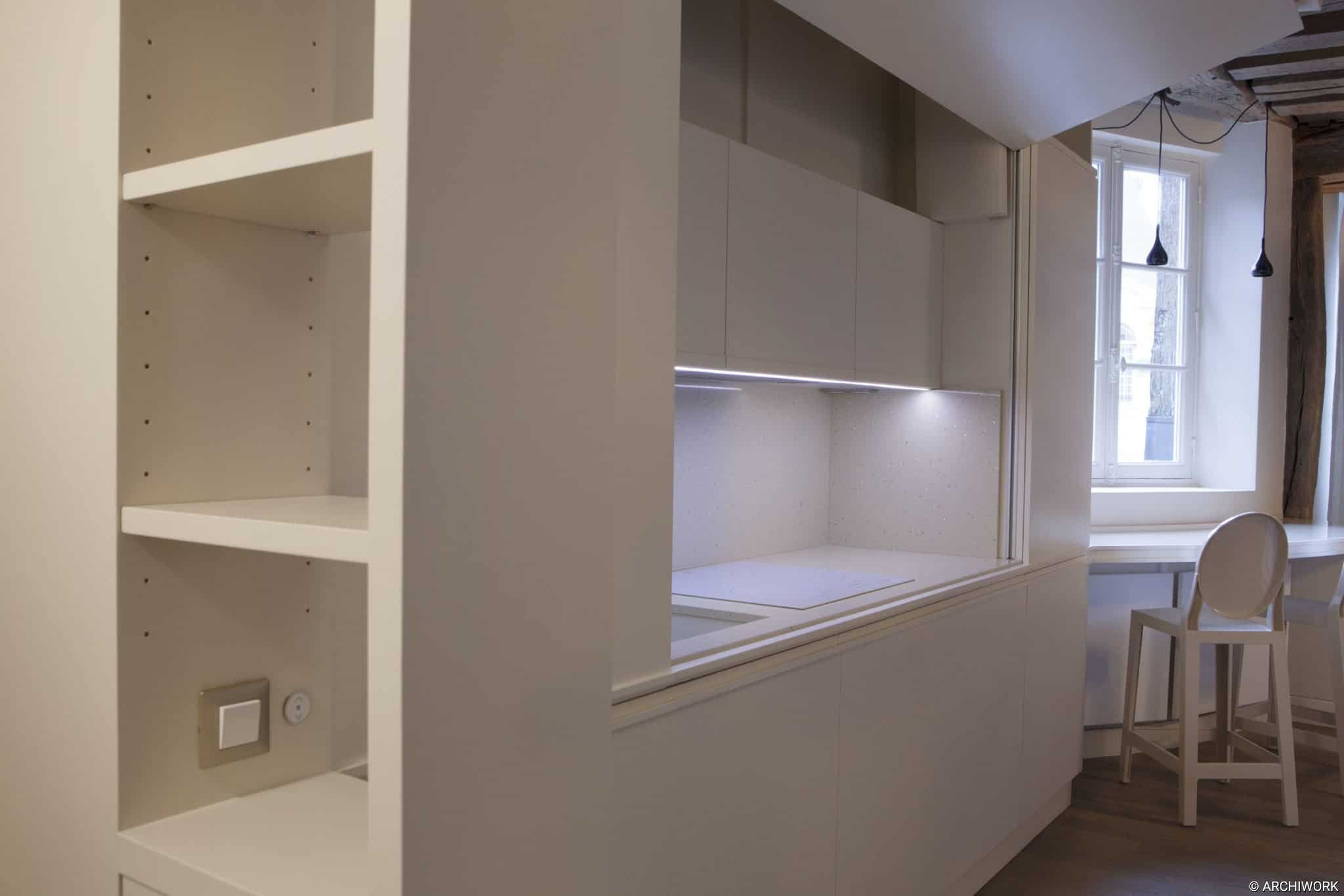ARCHIWORK AMENAGEMENT SUR MESURE AGENCEMENT PARIS Appartement Rue Bourbon, Paris.
