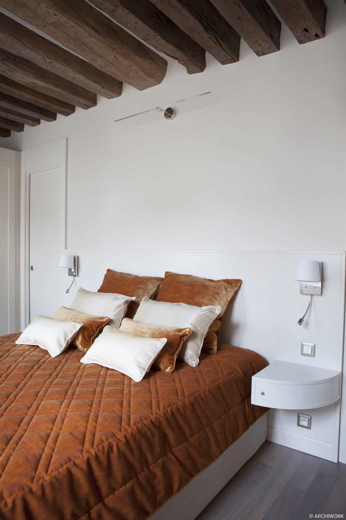 ARCHIWORK PARIS AMENAGEMENT SUR MESURE Appartement Rue Bourbon, Paris.