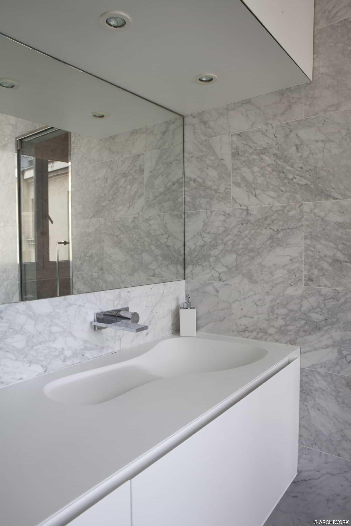 archiwork salle de bain sur mesure marbre