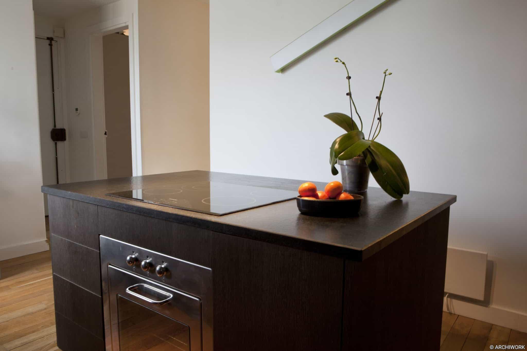 archiwork aménagements et mobilier sur mesure cuisine en chene massif